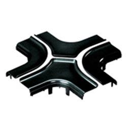 """Diviser la couverture, 4-chemin Croix, 4 """"x 4"""" (100 x 100 mm), FiberRunner, noir"""