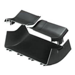 "Angle Fitting And Cover, Inside Vertical 45 Degrees, 12"" x 4"" (300mm x 100mm) FiberRunner, Black"