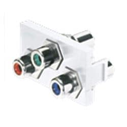 1/3 Insert, 3 RCA Couplers (RGB), Off White