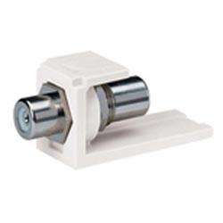 Insertion de coupleur Module, RCA pass-through, blanche, Ivoire électrique
