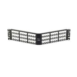 72-Port Angle d all Metal Patch Panel, 2 RU