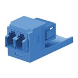 LC Sr./Jr. SFF Duplex Single-mode Fiber Adapter (Blue) With Module (Blue), Zirconia Ceramic Split Sleeves