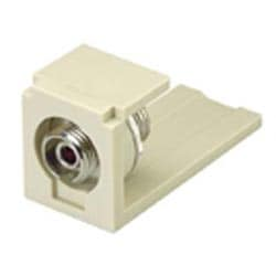 Module, Mini-Com, FC Fiber Adapter, Phosphorus Bronze Split Sleeves, Off White