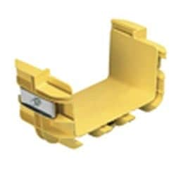 "Fitting, Adapter from 4"" x 4"" FiberRunner to 4"" x 4"" ADC FiberGuide, Yellow"