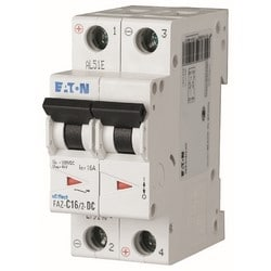 Miniature Circuit Breaker (MCB), 3A, 2p, C-char, DC Current