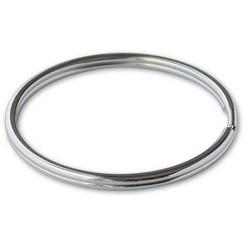 """Key Ring, Split, 3"""" Diameter, Tempered Steel, Nickel Plated, 1 each per Card"""