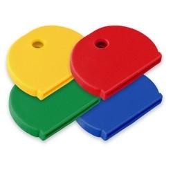 """Key Identifier Cap, X-Large, 1-1/4"""" Length x 7/8"""" Width, Vinyl Rubber, 4 each per Card"""