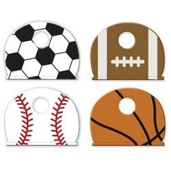 "Key Identifier Cap, Sports, 1"" Length x 3/4"" Width, Vinyl, For Sports Enthusiast, 4 each per Card"