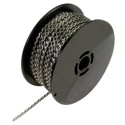 Chain and Connector, Flat Link, Stainless Steel, 100' each Spool