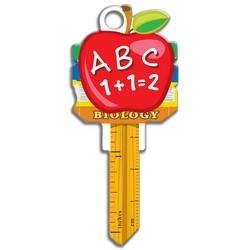 House Key, Schlage, Teacher, Brass, Enamel Coating, 1 each per Card