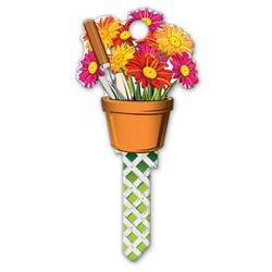 House Key, Schlage, Gardening, Brass, Enamel Coating, 1 each per Card