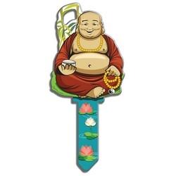 House Key, Schlage, Buddha, Brass, Enamel Coating, 1 each per Card