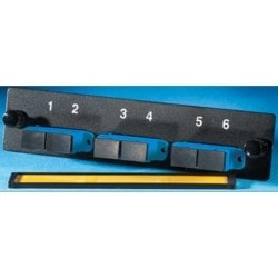 3-SC-Duplex (six fibers) single-mode adapters with ceramic alignment sleeves