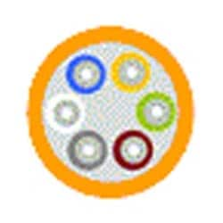 Câbles de Distribution tampon étanche - Plenum (OFNP) OS2 24-fibre OFNP serré-tampon jaune