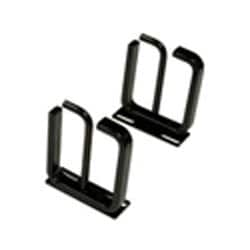 VERT CABLE MGMT RACK SECTION  FOR ACTIVE ELEC COMPONENTS    2 RMU, BLACK