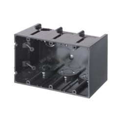 One Box Non-Metallic outlet boxes. Three Gang. Vertical. 61.0 cu.