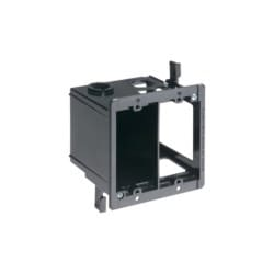 """Power and low voltage box for existing construction, nail on. Low voltage side provides combination 1/2"""" and 3/4"""" knockout. 2 hour fire rating. 20 cu. in."""