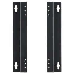 Wall Mounting Bracket, 45.1 MM Width x 10 MM Depth x 220 MM Height, Surface Treated Steel Plate, Black Painted, For N-8000 Series Packet Intercom System