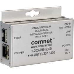 Mini 10/100/1000Mbps Ethernet Media Converter with IEEE 802.3at 30W PoE+