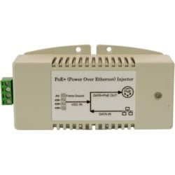 Industrial Gigabit Power over Ethernet 35 watt midspan injector, compatible with IEEE802.3af/at PoE+ for DC-to-DC power applications with 24 VDC Input