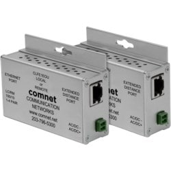 2 Ethernet-over-UTP Extenders, Local/Remote Configurable, Small Size, Includes Power Supplies