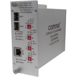 Transmitter 2 Video / Bi-directional Data / Aiphone Intercom / 4 Contact Closure / 100Mb Ethernet / SFP