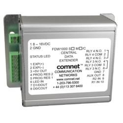 "Data Extender, Optical Wiegand, Central Unit, 2-Fiber, Single-Mode 9/125 Micrometer, 40 Kilometer, 20 dB, 4.5"" Length x 3.1"" Width x 2"" Height"