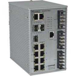(7) 10/100BASE-T(X) / (3) 10/100/1000BASE-T(X) or 100/1000BASE-FX SFP Ports, Dual/redundant power inputs (12 to 60 VDC)