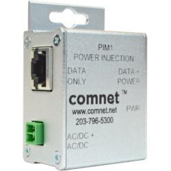 Power Over Ethernet Midspan Injector, Passive, Industrial, RJ45 Connector, 12 to 48 Volt DC, 30 Watt