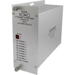 Contact Closure Receiver, 8-Channel, 1-Fiber, 2-Rack Slot, Single-Mode 9/125 Micrometer, 69 Kilometer, 23 dB, 8 to 15 Volt DC, 3 Watt