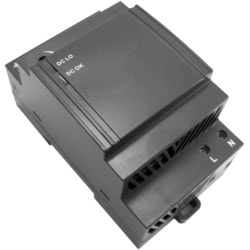 "Switch Mode Power Supply, DIN-Rail Mount, 100 to 240 Volt AC, 800 Milliampere, 47 to 63 Hertz Input, 24 Volt DC, 1.3 Ampere, 30 Watt Output, 3.6"" Length x 3.5"" Width x 2.24"" Height"