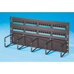 "Clarity 6 hinged 48-port panel with lower cable management panel, Cat 6, standard density, six-port modules, 19"" x 8.75"""