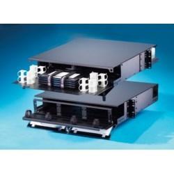 2U rack mount fiber cabinet for combination patch/splice applications