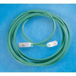 Clarity 6 Modular Patch Cord, 25', green