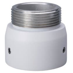 "Camera Mount Adapter, G1 1/2"" Thread, Aluminum, White"