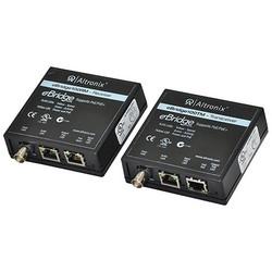 EoC or Long Range Ethernet Single Port Adapter Kit, 100Mbps, Passes PoE/PoE+, Includes Receiver & Transceiver