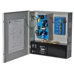 Power Supply Charger, 4 PTC Outputs, 12/24VDC @ 4A, 115/220VAC, Supervision, BC300 Enclosure