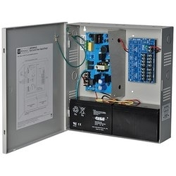 Power Supply Charger, 8 PTC Outputs, 12/24VDC @ 4A, 115/220VAC, Supervision, BC300 Enclosure