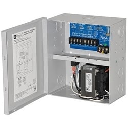 CCTV Power Supply, 4 PTC Outputs, 24/28VAC @ 7.25A, 115VAC, BC100M Enclosure