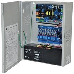 Access Power Controller w/ Power Supply/Charger, 8 Fused Relay Outputs, 24VDC @ 10A, Aux Output, FAI, 115VAC, BC400 Enclosure