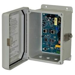 Midspan Injector, Outdoor, Single Port, 10/100/1000, PoE/PoE+/Hi-PoE, 60W, 115/220VAC, WP4 Enclosure, 3 wiring inlets, includes glands, Outdoor