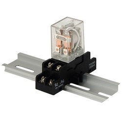 Relay and Base Module, 28VDC, DPDT Contacts @ 10A - 220VAC/28VDC, DIN Rail Mountable