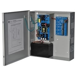 Power Supply Charger, 4 PTC Outputs, 12VDC @ 10A, 115VAC, Supervision, BC300 Enclosure