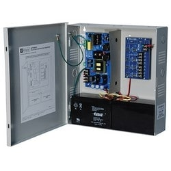 Power Supply Charger, 4 Fused Outputs, 24VDC @ 10A, 115VAC, Supervision, BC300 Enclosure