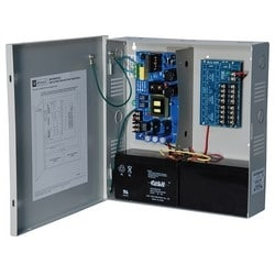 Power Supply Charger, 8 PTC Outputs, 24VDC @ 10A, 115VAC, Supervision, BC300 Enclosure