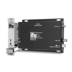 Video Receiver w/Automatic Gain Control (AGC), MM, 1 Fiber (850 nm), Rack Mount