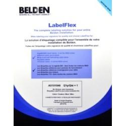 Label Pack For BIX Modular Jack Labels, Blue, 5 Sheets Per Pack, 28 Per Sheet