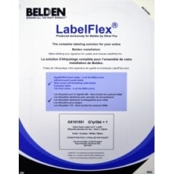 Label Pack For FLEX Patch Panel, White, 28 Per Sheet, 5 Sheets Per Pack