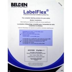 LABELFLEX LABEL SINGLE PORT ID450 LABELS/SHEET POLYESTER    WHITE NXLFSWOP-03