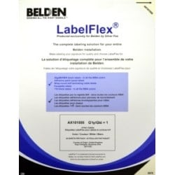 Label Pack For Cable Label, Print Area 0.98X0.47, 48 Per Sheet, 25 Sheets Per Pack